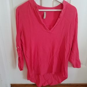 3/$25 Final Touch blouse.  Coral. Long sleeve.
